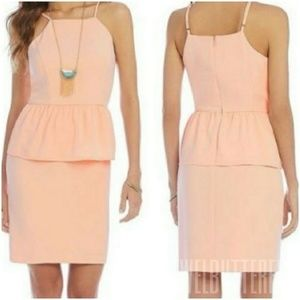 Gianni Bini   Tisa Dress Peplum Waist New Size 6